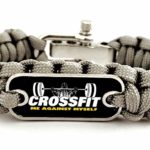 Crossfit Paracord Survival Bracelet Grey